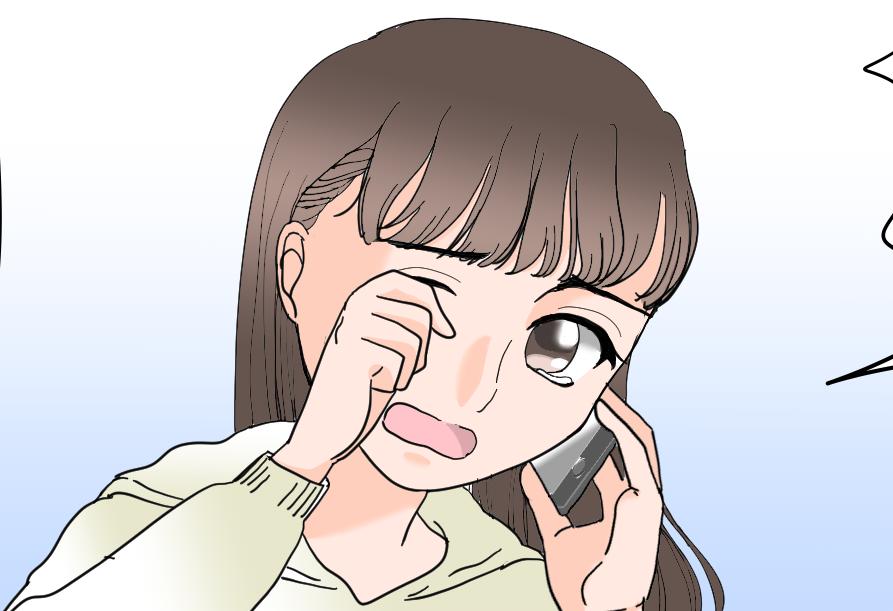 【漫画】同棲中の娘が「家に帰りたい...」。電話越しに泣く娘は「幼い頃の泣き声」そのままでした