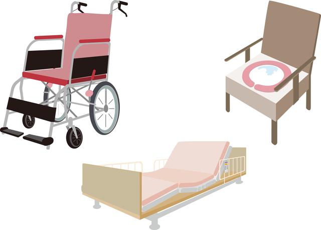 介護保険が使える福祉用具は1割から3割の自己負担。1カ月単位でレンタル、あるいは購入もできる/在宅介護
