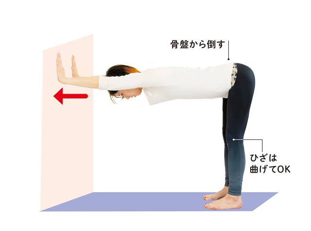 高血圧を改善! ゆっくりとした呼吸で壁を使って体を伸ばす「血管緩めヨガ」