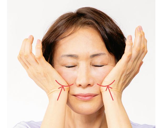 皮膚の新陳代謝を促し、小顔効果も!「顔」の4つの血管マッサージ