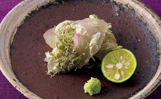 しょうゆなしでおいしい新感覚のお刺身「鯛のとろろ昆布あえ」/塩なしレシピ