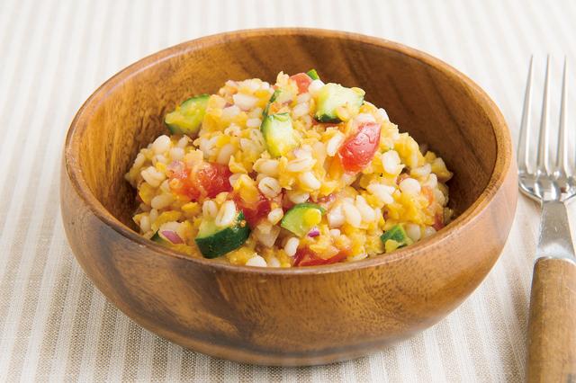 サラダ、スープにも。彩りがキレイになるレンズ豆レシピ/親子で乾物