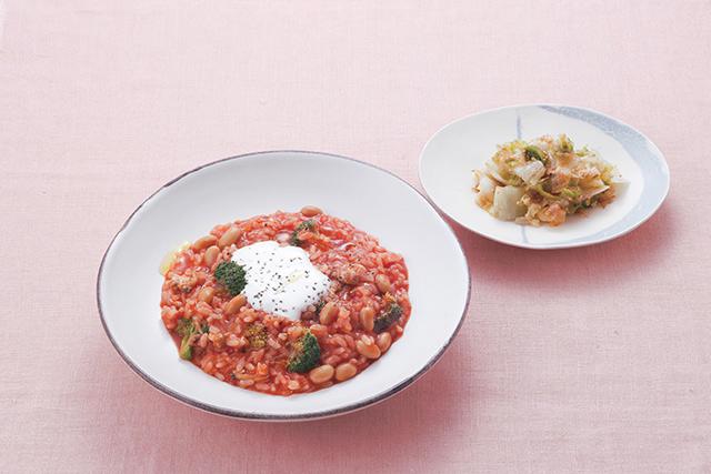 【レシピ】3種の長生き食材で作る「トマトリゾット 塩ヨーグルト添え」/長生き朝ごはん(6)