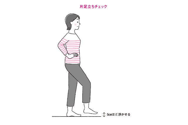 片足立ちで20秒立てますか? すぐできる「バランス能力テスト」/転ばない体を2カ月でつくる
