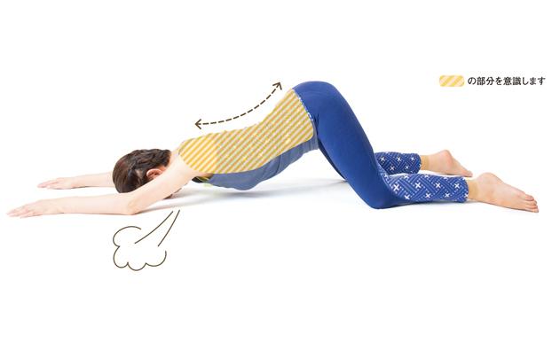 息を吐いてゆる~り。椎間板を緩める「猫伸びストレッチ」