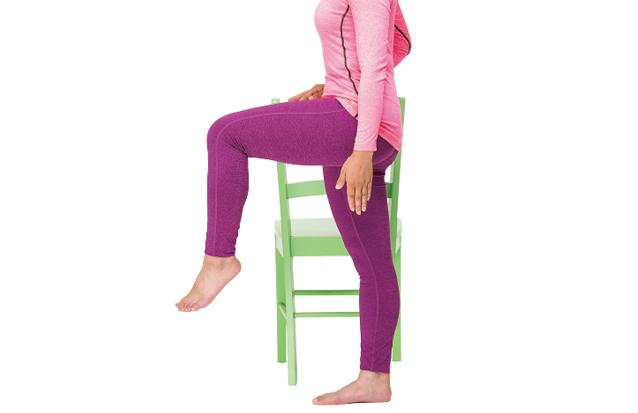自分の体重を負荷にする簡単筋トレ「もも上げ」で美姿勢キープ!/貯筋運動