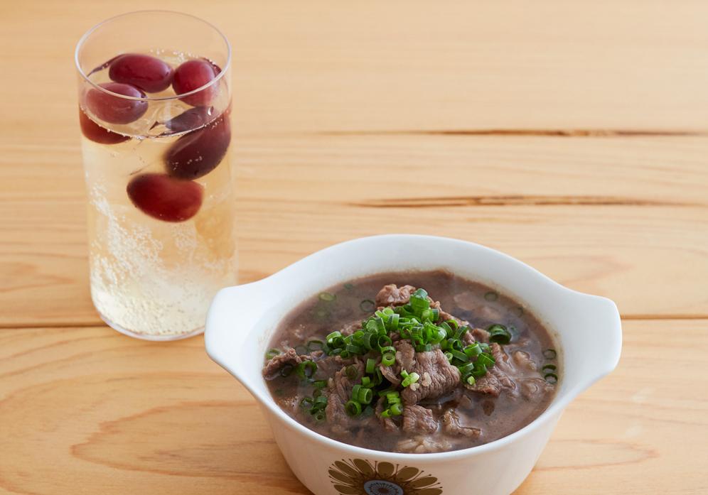 「疲労回復」に最適!「ぶどうハイボール&肉すい」の晩酌レシピ