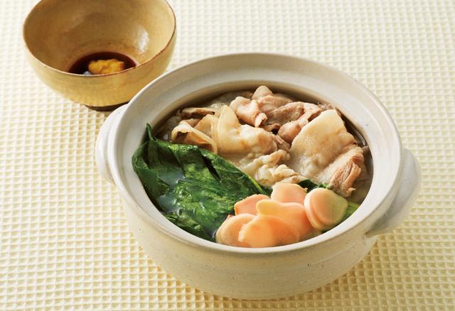 ぞうすいにも。「小松菜と豚バラ肉のしょうが鍋」酢しょうが活用レシピ/しょうが生活