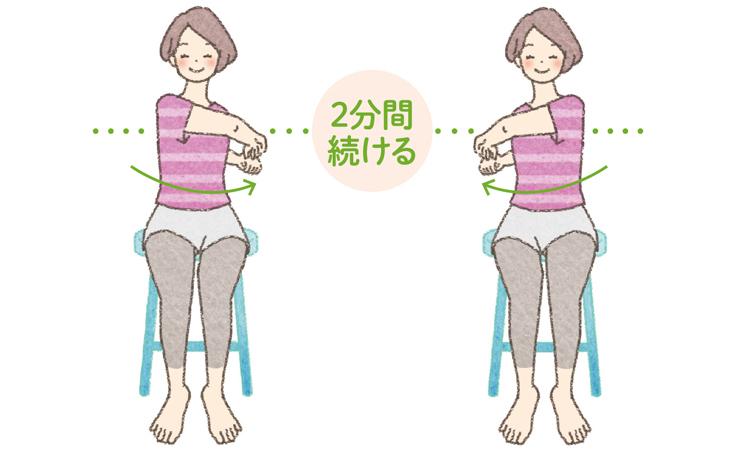 片頭痛の人に。「両肩を大きく動かすストレッチ」/頭痛さよなら体操(1)