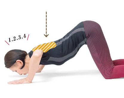 腕の筋肉を強化して肩こり解消!「床プッシュストレッチ」
