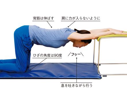 上体が緊張しがちな人に。背中の筋肉を伸ばす「ネコの体操」/肩ほぐし体操