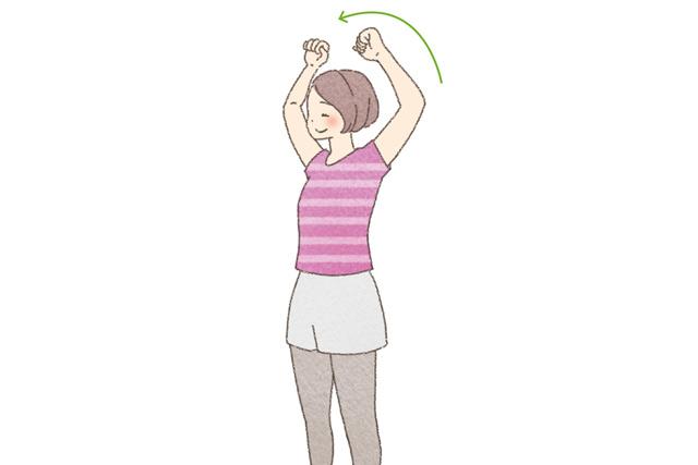 緊張型頭痛の改善に。「肩を前後に大きく回すストレッチ」/頭痛さよなら体操(2)
