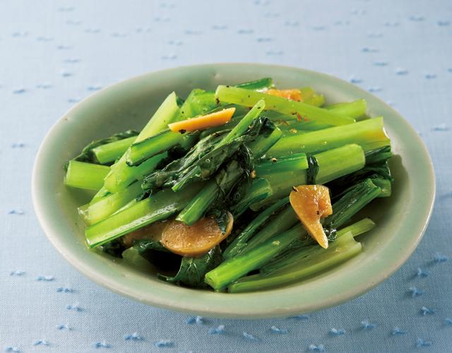みそにんにくで炒めて、小松菜も鶏肉も絶品おかずに!/にんにくで毎日元気(7)