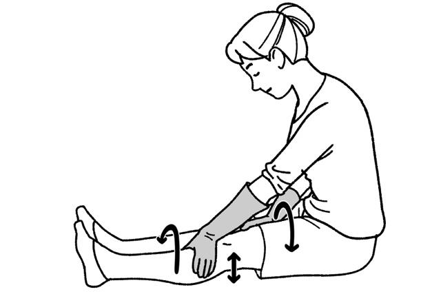ひざのお皿運動&体のねじれ補正! 理学療法士が教える「ひざ痛の簡単セルフケア」