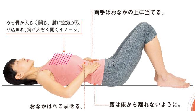 実践! 血液の流れを改善する「寝たまま呼吸」/背伸びダイエット(5)