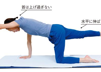 体幹を強くして腰の負担を減らす「腕・足上げ体操」/腰ほぐし体操