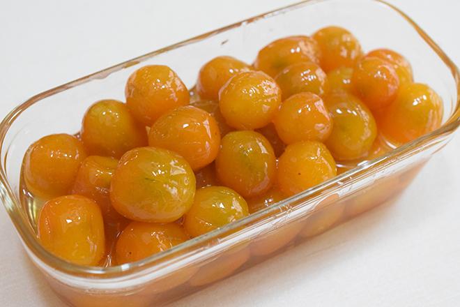 庭に鈴生りの健康果実「金柑」でふっくら艶々♪の甘露煮を【作ってみた】/hana