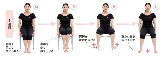 座ってできる!「抜き足、差し足、忍び足」ストレッチで股関節の動きを改善