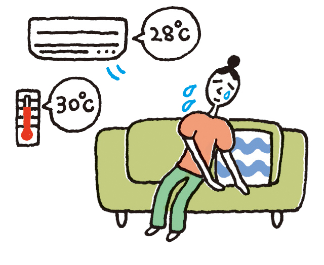 家の中での熱中症予防は「温度28℃・湿度60%」が目安です/熱中症予防の新習慣(3)