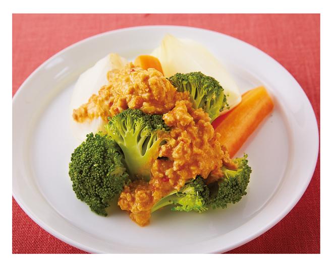 「やせおか」柳澤英子さん流・野菜と合わせてボリュームたっぷり「肉みそ担々ソース」