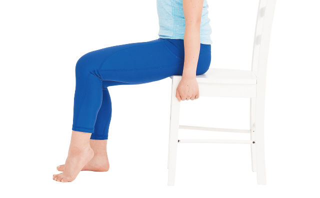いすに座ってできる「かかとあげ」だけで、ふくらはぎの筋肉が元気になる!/筋肉貯金