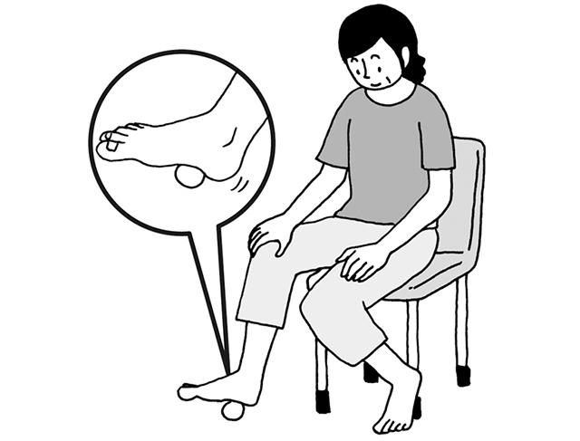 足裏の筋肉を柔らかくして「足底腱膜炎」予防!「ゴルフボールぐりぐり体操」