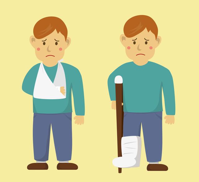 粉砕、亀裂、陥没...。多種多様な「骨折」には応急処置を/やさしい家庭の医学