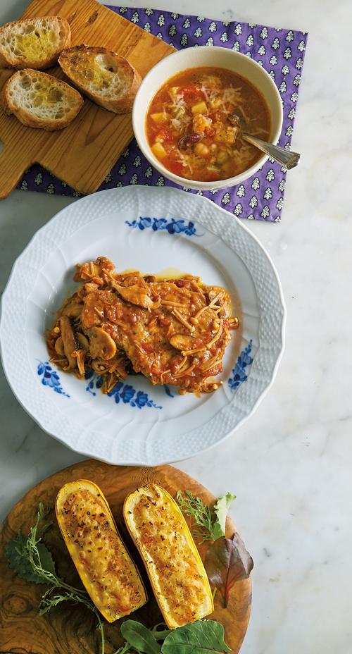 豆と雑穀のミネストローネなどレシピ3点。谷島せい子さんの毎日の野菜だし(後編)