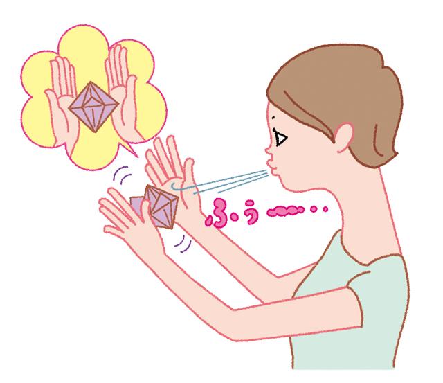折り紙で手軽に作れる「吹きごま」を使って、口の筋トレ!/口と歯