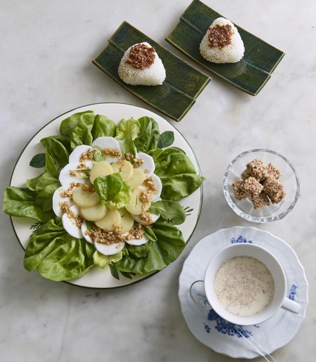 みそ焼きおにぎり、アーモンドホットドリンク...秋のレシピ3点 谷島せい子さんが作るアーモンドバター(後編)