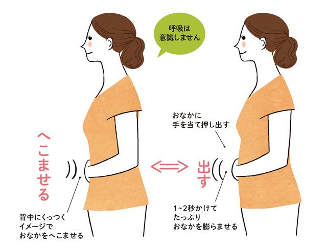 ぽっこりおなかに「おなかへこませ体操」。努力もがまんもせずに内臓脂肪を撃退!