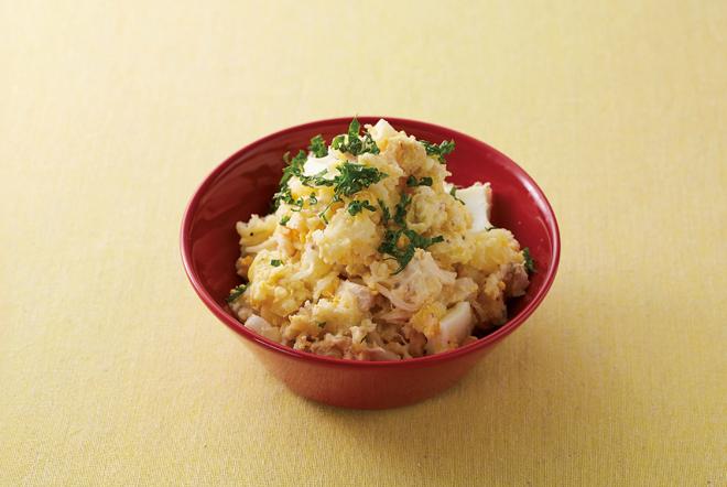 大人気!サラダチキン(5)おいしく活用レシピ 「ポテトサラダ」「なすのねぎポン酢」「もやしのスープ」