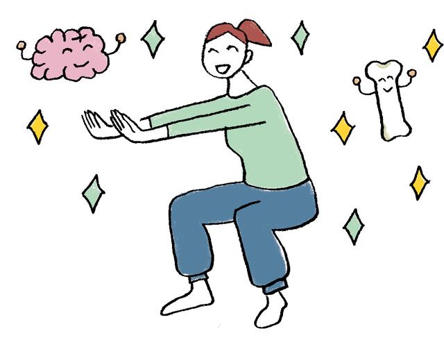 脳や骨、血管にもいいんです♪ 「7秒スクワット」うれしい3つの効果とは?