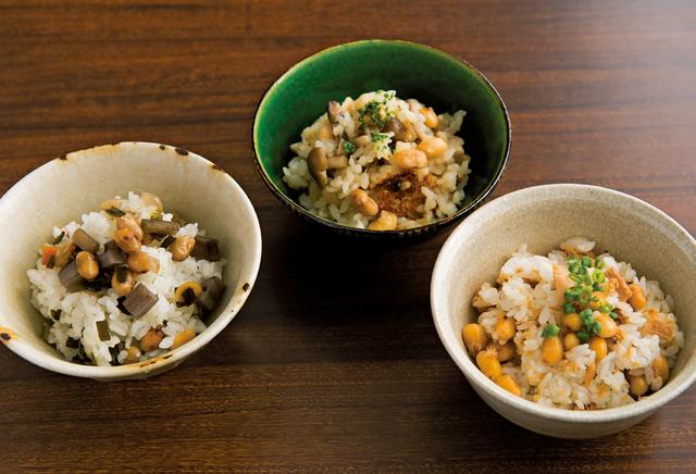 ご飯といっしょに大豆を食べる! 秋に食べたい絶品ご飯3種