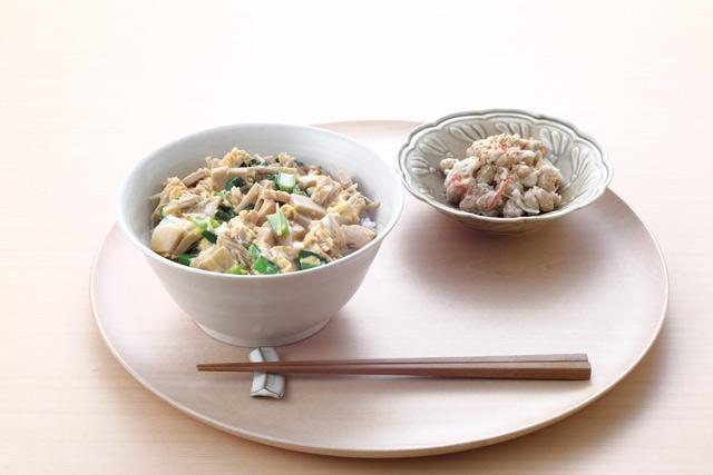 【レシピ】高野豆腐・大豆・卵でストレスにさよなら♪「高野豆腐とツナの卵とじ丼」/長生き朝ごはん(5)