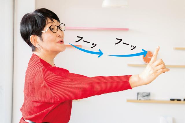 ろうそくを吹き消すようにフーッ。85歳の美容研究家が教える「2つの呼吸法」