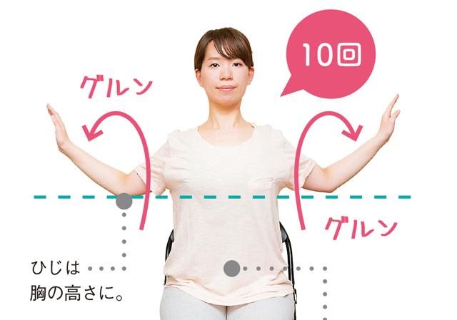 胸を開く! 腕を回す! 首こり&顔の歪み解消ストレッチ/首こり(7)