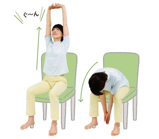 コロナ禍の運動不足解消におすすめ♪ 体を正しい位置に戻す「ながら腰痛体操」と「バンザイスクワット」