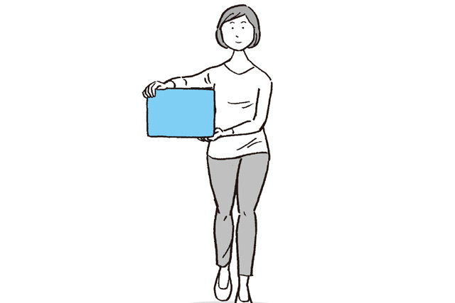 少し重い物を運ぶと疲れる。実は、荷物の持ち方・運び方にはコツがある/疲れないカラダ大図鑑
