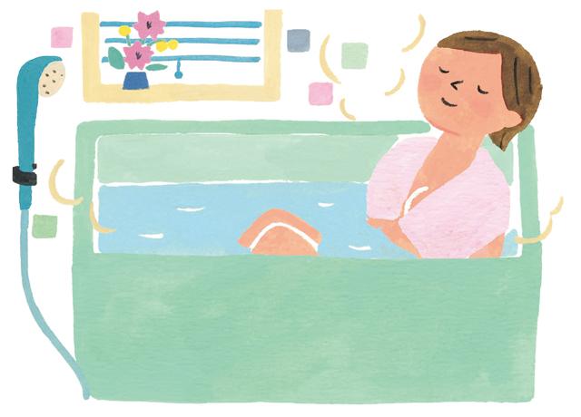 血圧を下げるには全身浴より半身浴! ぬるめの湯に20分ほどつかって「NO」が生産されやすい体へ