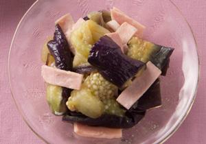 残暑にほてるときにぜひ!「レンジ蒸しなすとハムのサラダ」/奥薗流! 旬野菜を使ったスピード小鉢(4)