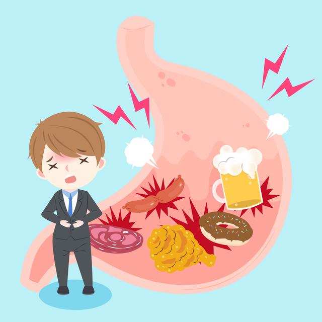 胃酸の逆流が不快感を招く。「胸...