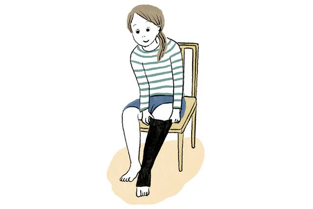 夜間頻尿は「ふくらはぎのむくみ」が原因かも...? 起きている間の弾性ストッキングでむくみ予防