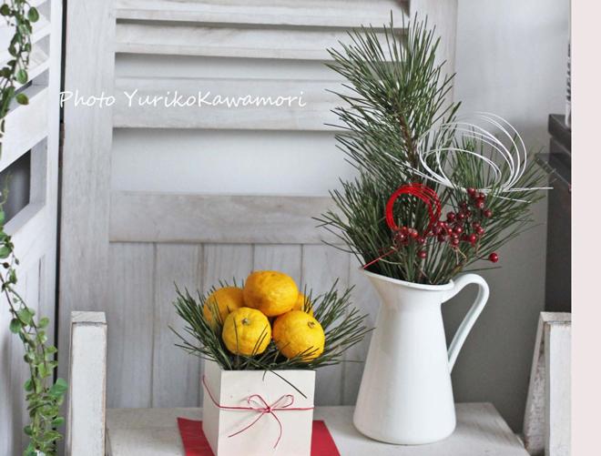 IKEAのピッチャーで! 和洋折衷な松飾り♪プチプラdeフラワーアレンジ【連載】