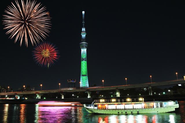 1分間英語でTokyo案内「東京の花火はコンピューター制御されている」