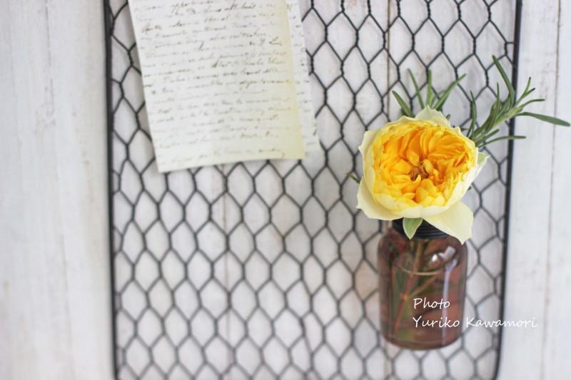 セリアのワイヤーネットが『花の居場所』に♪ プチプラdeフラワーアレンジ【連載】