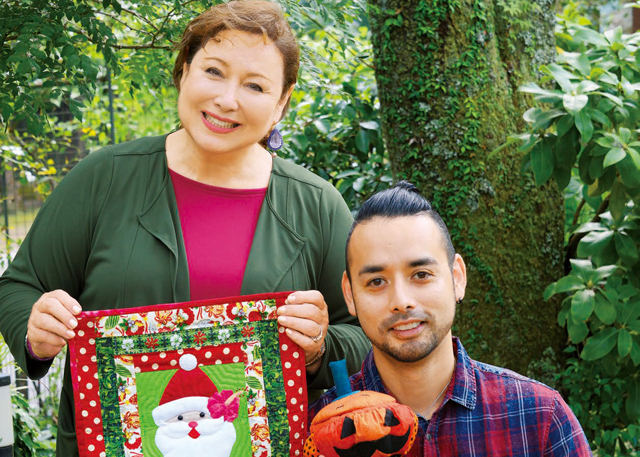 ハロウィーンはすぐそこ! キャシー中島&洋輔親子が作る、クリスマス&ハロウィーンのキルト飾り