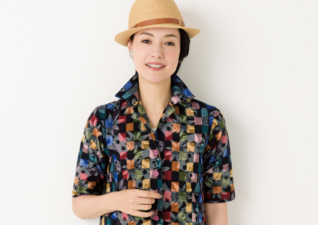 素肌にさらさら気持ちいい、木綿の開襟シャツ/高橋恵美子さんのきものリフォーム