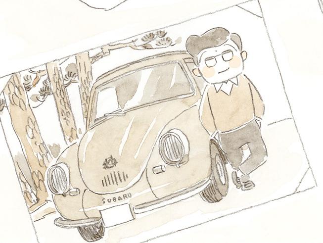「ばーさんの写真じゃにゃいんかい」!? スバル360の思い出/ねことじいちゃん7(4)