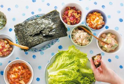 かに缶タルタルにイカ柚子こしょう...ごはんにもお酒にも合う「世界最小手巻き寿司」のススメ